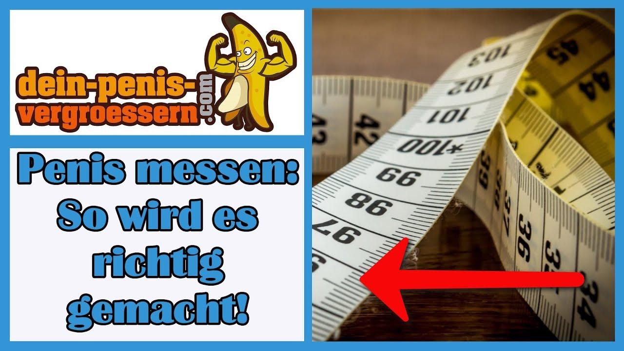 Sie Penis messen Ihren Wie ᐅ So