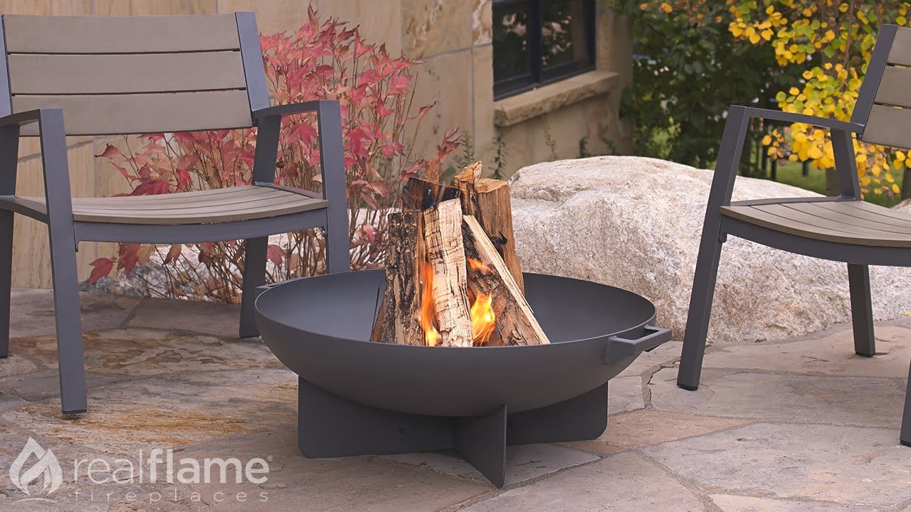 real flame anson wood burning fire bowl youtube