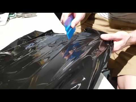 How to vinyl wrap a front grill. By @ckwraps