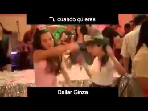 Lady la vendedora de rosas bailando ginza