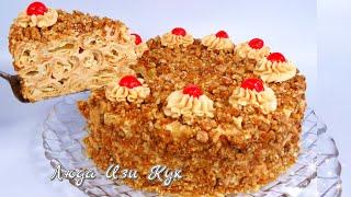 Торт на праздник Дамские пальчики в карамели выпечка для праздничного стола Люда Изи Кук торт 0803