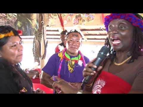 Dag der Inheemsen with Conservation International Suriname in Palmentuin