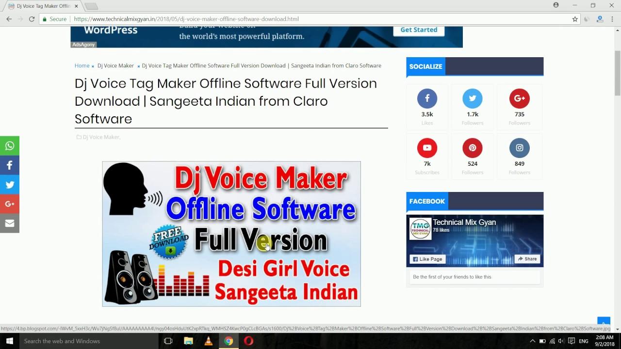 Dj Voice Tag Maker Offline Software | Techno Codes