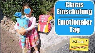Claras Einschulung 🎒 Schultüte auspacken! Emotionaler Tag für Mama | Familienleben | Mamiseelen
