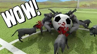 GORILLAS VS ASNOS! QUIEN GANARA!? Beast Battle Simulator #4