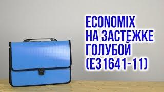 Розпакування Economix на застібці фактура Вишиванка Блакитний E31641-11