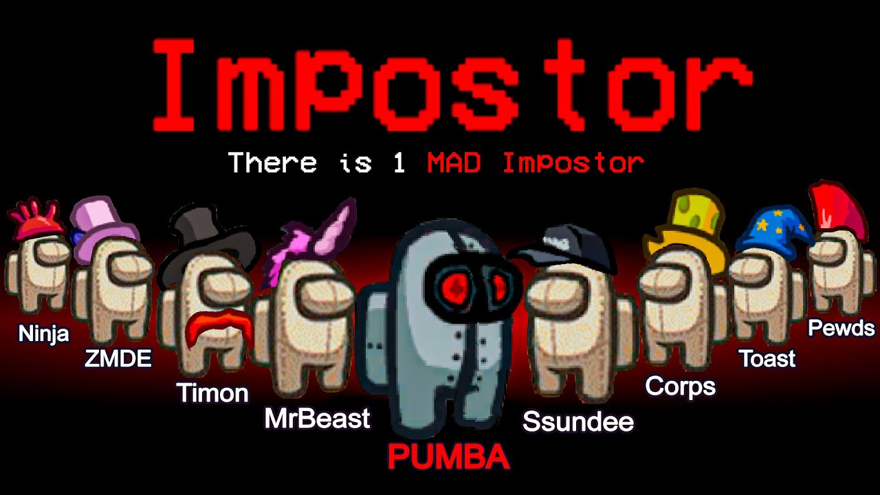 Download 1 MAD IMPOSTOR vs 9 CREWMATES! Among Us Funny Moments #158