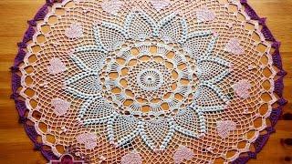 МК Красивая салфетка мини-скатерть 3 часть Crochet doily tutorial