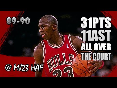 Michael Jordan Highlights vs Sixers (1990.01.26) - 31pts&11ast, ALL OVER THE COURT!