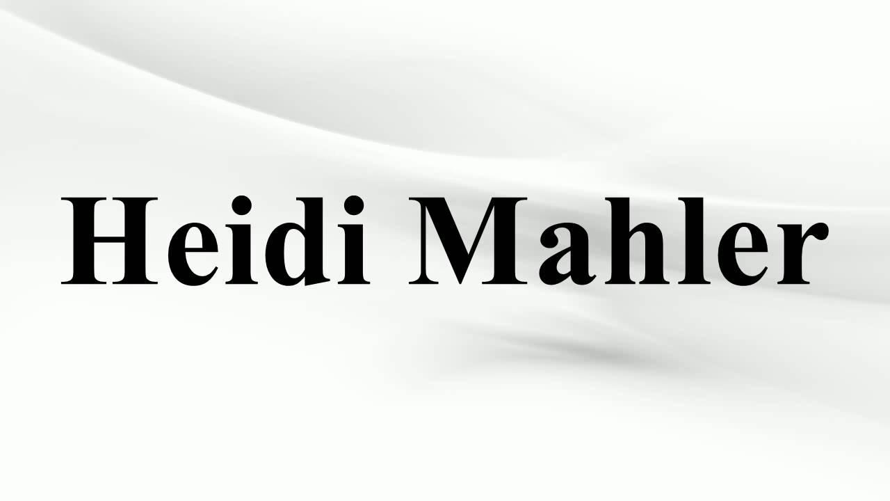 Heidi Mahler
