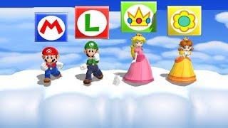 Mario Party 9 MiniGames - Mario Vs Luigi Vs Daisy Vs Peach (...