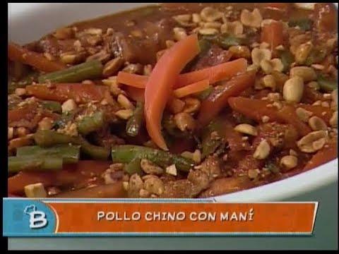 Pollo chino con maní