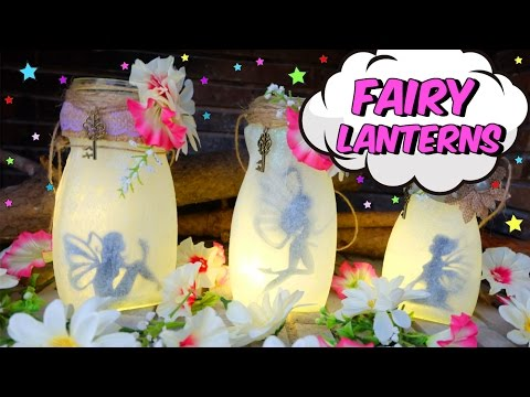 Easy crafts for mother's day - fairy lanterns with glass jars