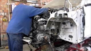 BMW X3. Body repair. Ремонт кузова.(The front body repair of the car. Ремонт переда машины., 2016-08-03T17:01:10.000Z)