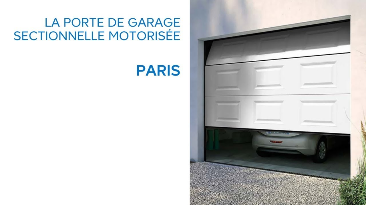 Porte de garage sectionnelle motoris e paris castorama youtube - Porte garage sectionnelle motorisee ...