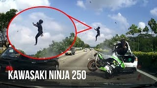Video DETIK-DETIK Kecelakaan Maut KAWASAKI NINJA 250 VS Sedan di Jalan TOL Singapura download MP3, 3GP, MP4, WEBM, AVI, FLV Agustus 2018