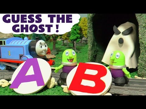 Funny Funlings guess the ghost Play Doh fun letter game with Thomas Train and PJ Masks TT4U