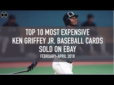 Top 10 Most Expensive Ken Griffey Jr Baseball Cards Sold On Ebay February April 2018