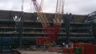 Tottenham's new stadium 22/11 South Stand takes shape with twin supporting 'trees' installed
