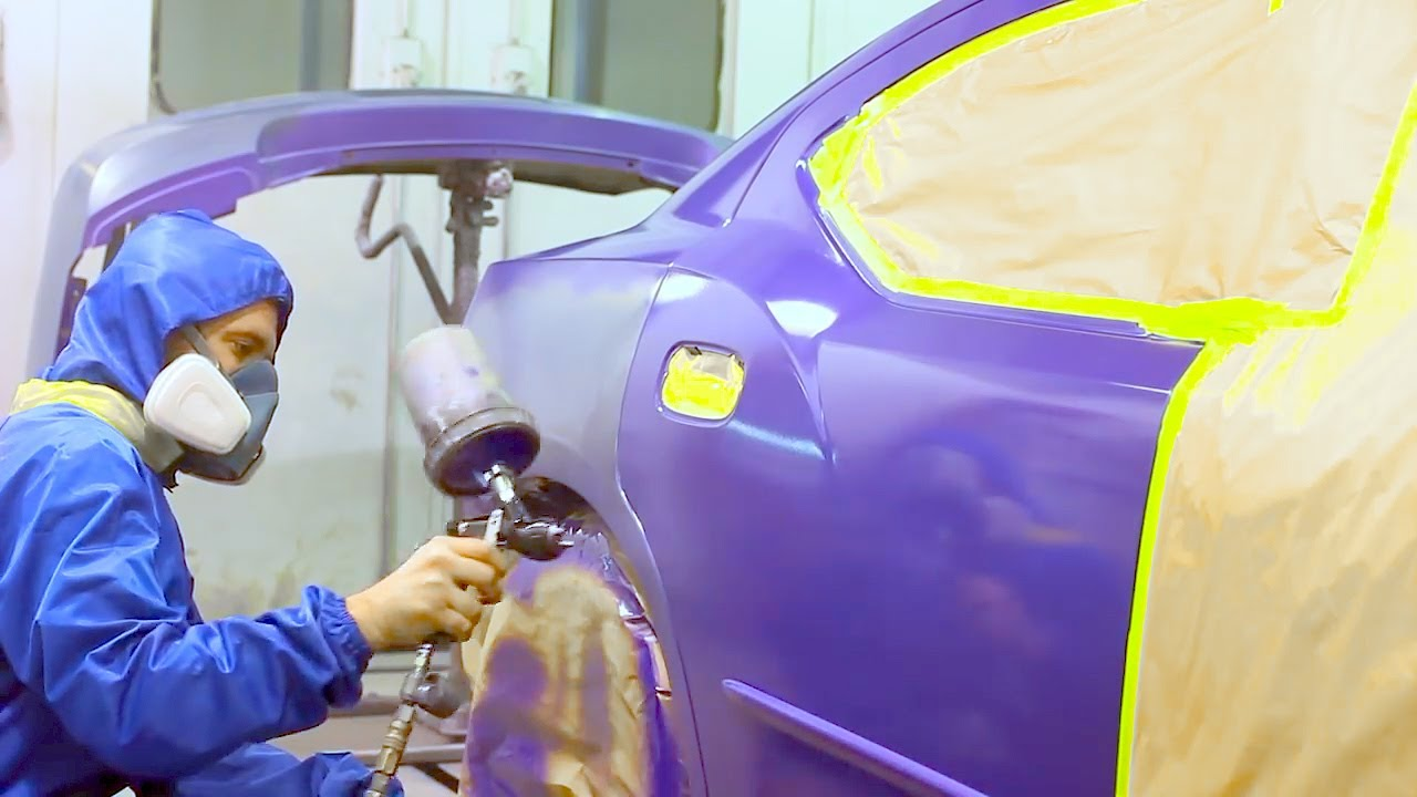 How To Paint Car With Base Coat Clear Coat