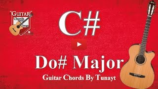★ ★ ★ Do# major | How to play C# chord on guitar | Do# Major Akoru Gitarda Nasıl Basılır ?