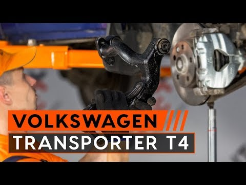 How to replace rear suspension front upper arm on VW TRANSPORTER T4 TUTORIAL | AUTODOC