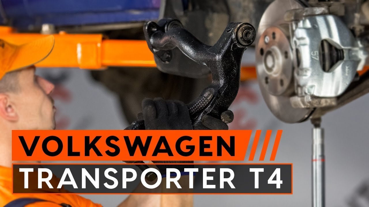 how to replace rear suspension front upper arm on vw transporter t4 tutorial autodoc youtube. Black Bedroom Furniture Sets. Home Design Ideas