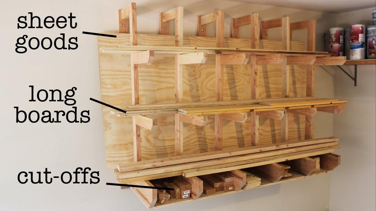 clever design for diy lumber rack