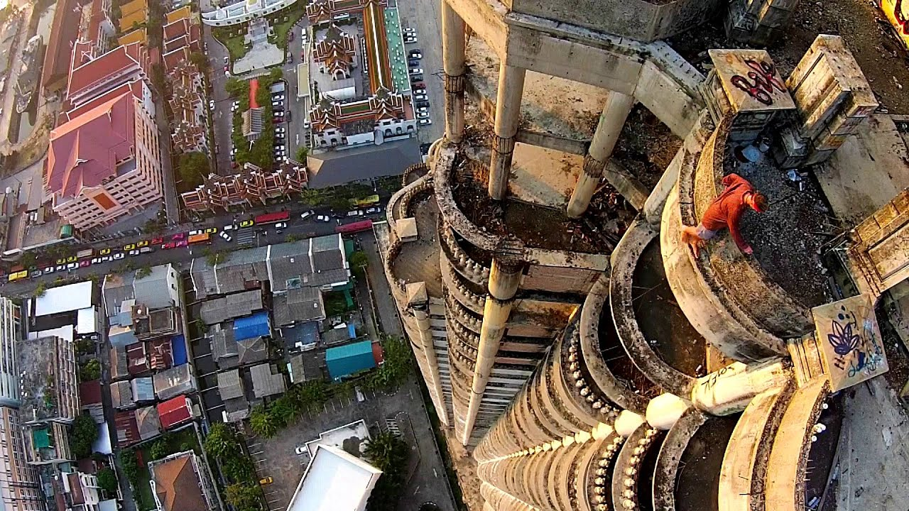 Abandoned Sathorn Ghost Tower Bangkok Drone Footage