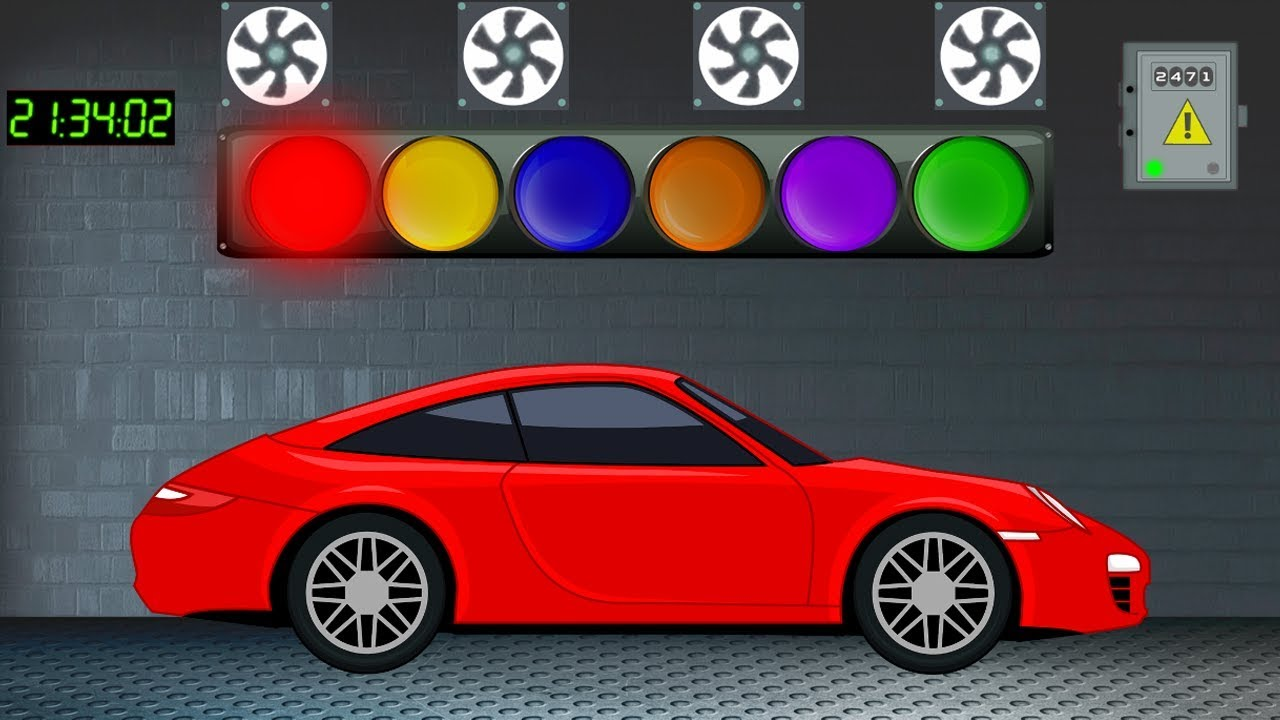 LEARN COLORS for Children with Cars Movie - Learning Colors Videos for Kids