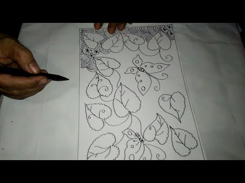 Cara Menggambar Sketsa Motif Batik Sketsa 3 Youtube