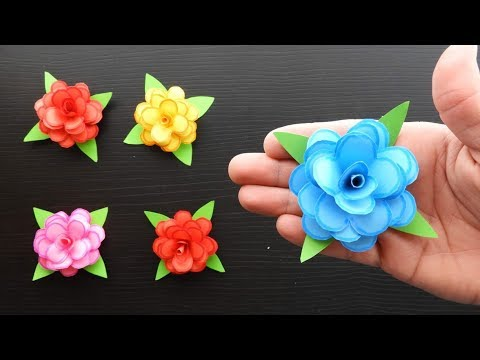 Paper roses Fast and easy paper flowers 🌹 Origami Pink. Easy crafts
