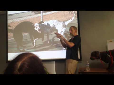 Dog body language seminar at the SPCA