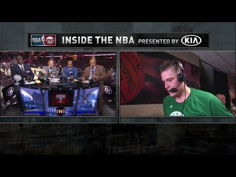Jonas Jerebko Talks To The Crew After Big Game 3 Win Against Cavaliers | Inside The NBA