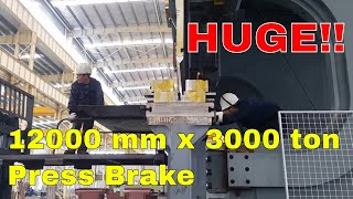 ACCURL MB8 12000 mm x 3000 ton Press Brake- 12 Meter CNC Press Brake Bending ST52 50mm Mild Steel