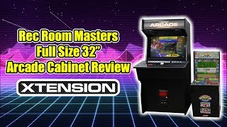 "Full Size REC ROOM MASTERS 32"" Xtension Arcade Cabinet ""Emulator Edition"""