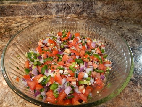 Authentic Pico De Gallo Recipe | Fresh Tomato Salsa Recipe |