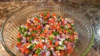 Authentic Pico De Gallo Recipe | Fresh Tomato Salsa Recipe | Salsa Mexicana