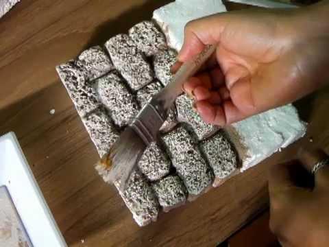 Imitacion de pared de piedra belenes imitation stone - Casas para belenes hechas a mano ...