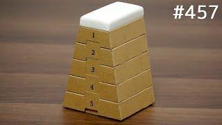 ダンボールで作った跳び箱の小物入れ。1番上は消しゴム / Miniature Vaulting Box Stationery Tray thumbnail