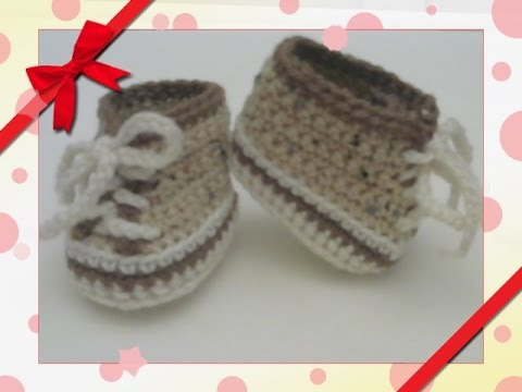 Crochet - Cabbage Patch Tennis Shoes - YouTube 9af8b1c4668