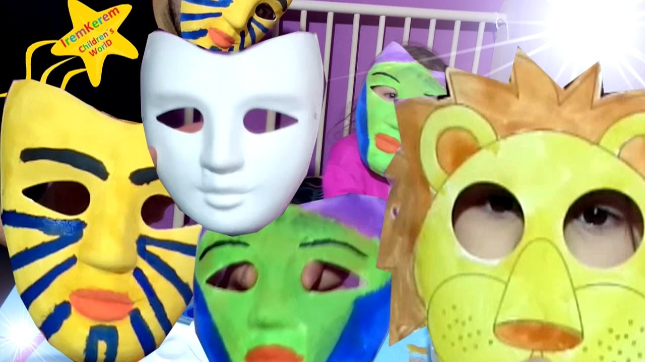 Maske Boyama Cocuklar Icin Maske Boyama Boyama Videolari Cocuk