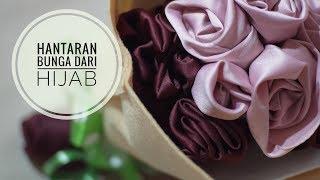 Menghias Hantaran Hijab menjadi bunga