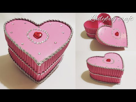 Paper crafts | DIY | Jewelry box | Cardboard crafts