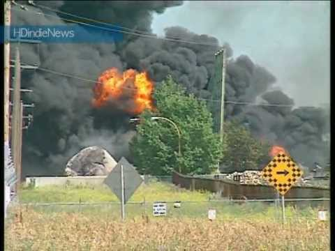 Hub Oil Fire Aug 9, 1999, Calgary, Ab - HDindieNews