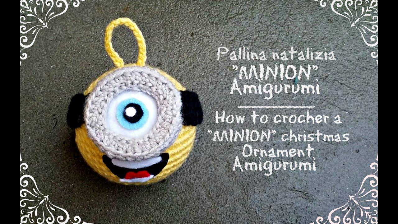 pallina natalizia minion amigurumi how to crochet a minion christmas ornament youtube - Minion Christmas Ornament