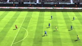Fifa 14 | Halfway line volley goal!