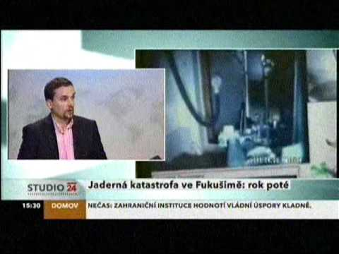 Czech TV broadcasting Fukushima explosion and nuclear industry issues