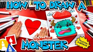 How To Draw A Valentine's Monṡter - Folding Surprise