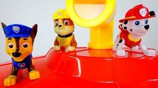 Щенячий патруль мультик из игрушек. Штаб - квартира спасателей.  Видео для детей.(Команда щенков - спасателей из мультфильма